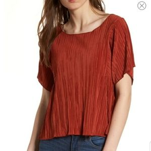 Madewell Texture & Thread Mircopleat Top
